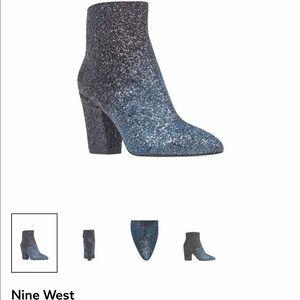 Nine West Glitter Boots NIB